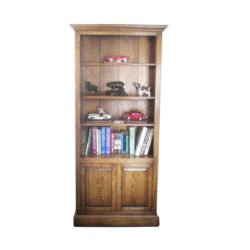 2 door bookcase.