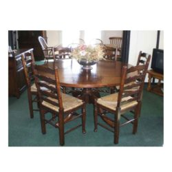 Round table & Ladder backs