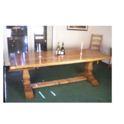 Square cut refectory table.
